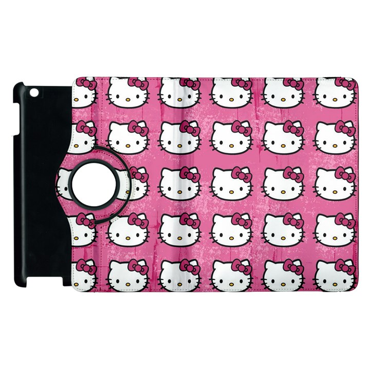 Hello Kitty Patterns Apple iPad 2 Flip 360 Case