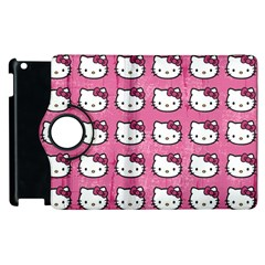 Hello Kitty Patterns Apple iPad 3/4 Flip 360 Case