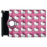 Hello Kitty Patterns Apple iPad 3/4 Flip 360 Case Front