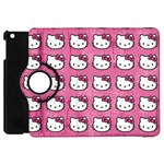 Hello Kitty Patterns Apple iPad Mini Flip 360 Case Front