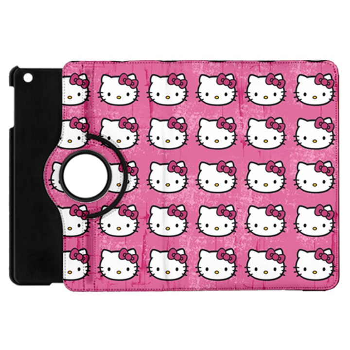 Hello Kitty Patterns Apple iPad Mini Flip 360 Case