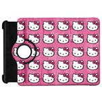 Hello Kitty Patterns Kindle Fire HD Flip 360 Case Front
