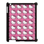 Hello Kitty Patterns Apple iPad 3/4 Case (Black) Front