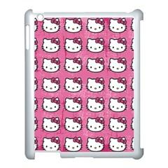 Hello Kitty Patterns Apple iPad 3/4 Case (White)
