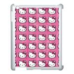Hello Kitty Patterns Apple iPad 3/4 Case (White) Front