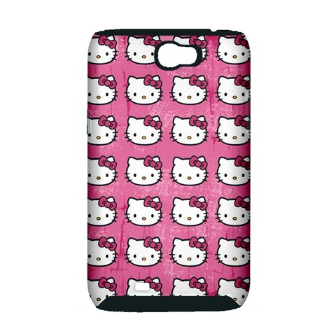 Hello Kitty Patterns Samsung Galaxy Note 2 Hardshell Case (PC+Silicone)