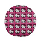 Hello Kitty Patterns Standard 15  Premium Round Cushions Front