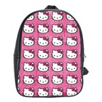 Hello Kitty Patterns School Bags (XL)  Front