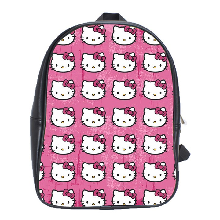 Hello Kitty Patterns School Bags (XL)