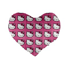 Hello Kitty Patterns Standard 16  Premium Heart Shape Cushions