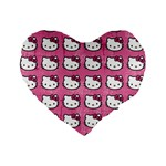 Hello Kitty Patterns Standard 16  Premium Heart Shape Cushions Front