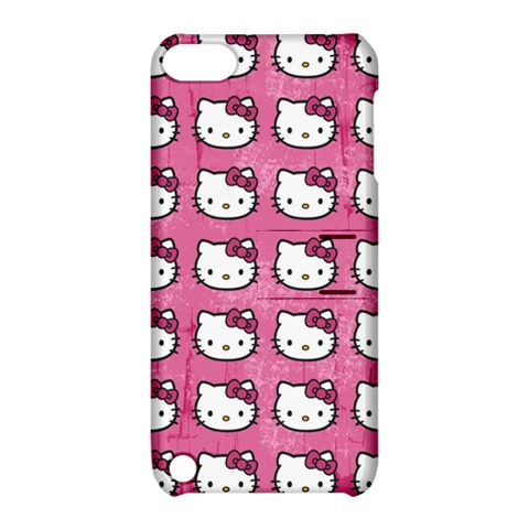 Hello Kitty Patterns Apple iPod Touch 5 Hardshell Case with Stand