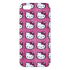 Hello Kitty Patterns Apple iPhone 5 Premium Hardshell Case