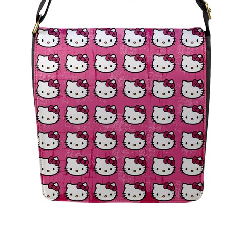 Hello Kitty Patterns Flap Messenger Bag (L)