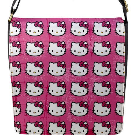 Hello Kitty Patterns Flap Messenger Bag (S)