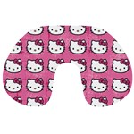 Hello Kitty Patterns Travel Neck Pillows Front