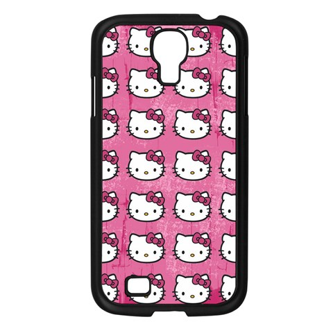Hello Kitty Patterns Samsung Galaxy S4 I9500/ I9505 Case (Black)
