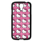 Hello Kitty Patterns Samsung Galaxy S4 I9500/ I9505 Case (Black) Front