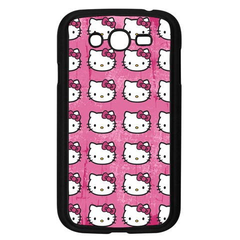 Hello Kitty Patterns Samsung Galaxy Grand DUOS I9082 Case (Black)
