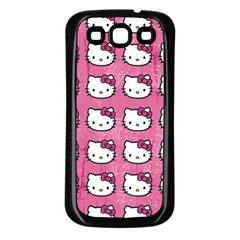 Hello Kitty Patterns Samsung Galaxy S3 Back Case (Black)
