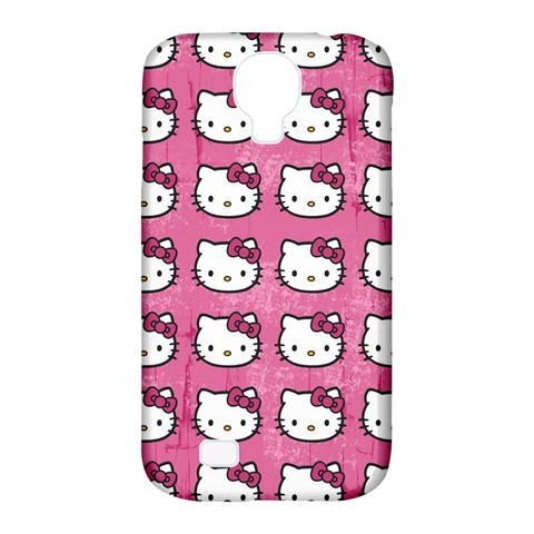 Hello Kitty Patterns Samsung Galaxy S4 Classic Hardshell Case (PC+Silicone)