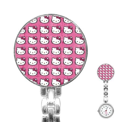 Hello Kitty Patterns Stainless Steel Nurses Watch