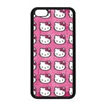 Hello Kitty Patterns Apple iPhone 5C Seamless Case (Black) Front
