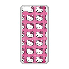 Hello Kitty Patterns Apple iPhone 5C Seamless Case (White)