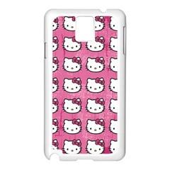 Hello Kitty Patterns Samsung Galaxy Note 3 N9005 Case (White)