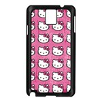 Hello Kitty Patterns Samsung Galaxy Note 3 N9005 Case (Black) Front