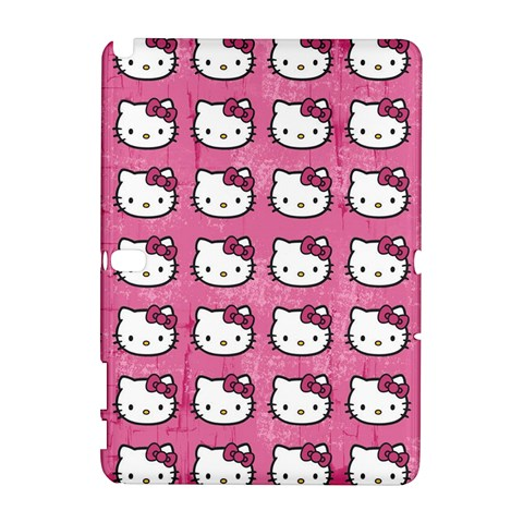 Hello Kitty Patterns Samsung Galaxy Note 10.1 (P600) Hardshell Case