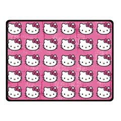 Hello Kitty Patterns Double Sided Fleece Blanket (Small)
