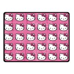 Hello Kitty Patterns Double Sided Fleece Blanket (Small)  50 x40 Blanket Front