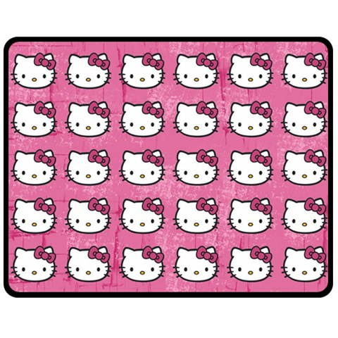 Hello Kitty Patterns Double Sided Fleece Blanket (Medium)