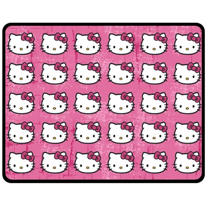 Hello Kitty Patterns Double Sided Fleece Blanket (Medium)