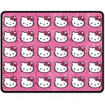 Hello Kitty Patterns Double Sided Fleece Blanket (Medium)  60 x50 Blanket Back