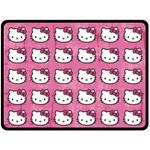 Hello Kitty Patterns Double Sided Fleece Blanket (Large)  80 x60 Blanket Front
