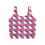 Hello Kitty Patterns Full Print Recycle Bags (S)  Front