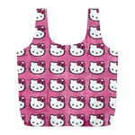 Hello Kitty Patterns Full Print Recycle Bags (L)  Back