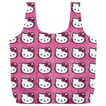 Hello Kitty Patterns Full Print Recycle Bags (L)  Front
