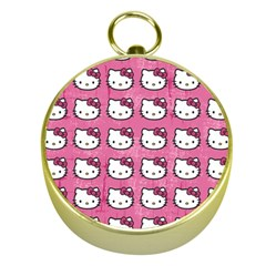 Hello Kitty Patterns Gold Compasses