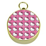 Hello Kitty Patterns Gold Compasses Front