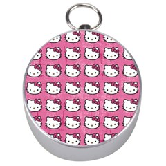 Hello Kitty Patterns Silver Compasses