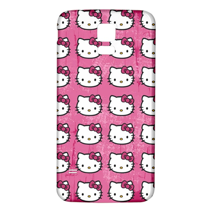 Hello Kitty Patterns Samsung Galaxy S5 Back Case (White)