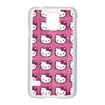 Hello Kitty Patterns Samsung Galaxy S5 Case (White) Front