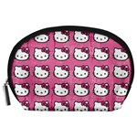 Hello Kitty Patterns Accessory Pouches (Large)  Front