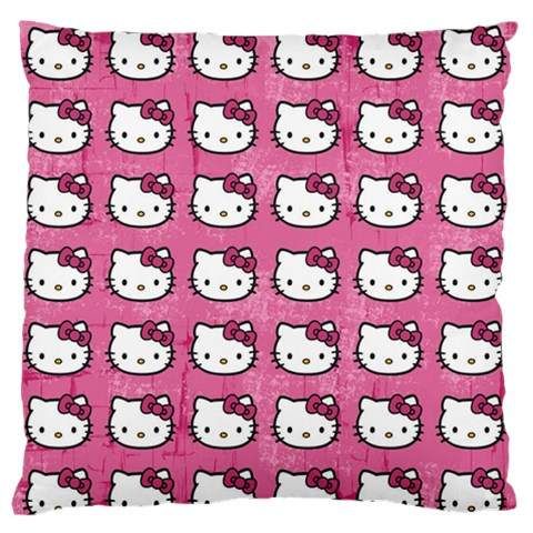 Hello Kitty Patterns Standard Flano Cushion Case (One Side)