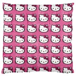 Hello Kitty Patterns Standard Flano Cushion Case (Two Sides) Back