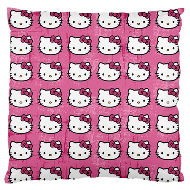 Hello Kitty Patterns Large Flano Cushion Case (One Side)