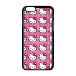 Hello Kitty Patterns Apple iPhone 6/6S Black Enamel Case Front